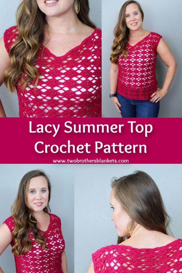Lacy Summer Top Crochet Pattern
