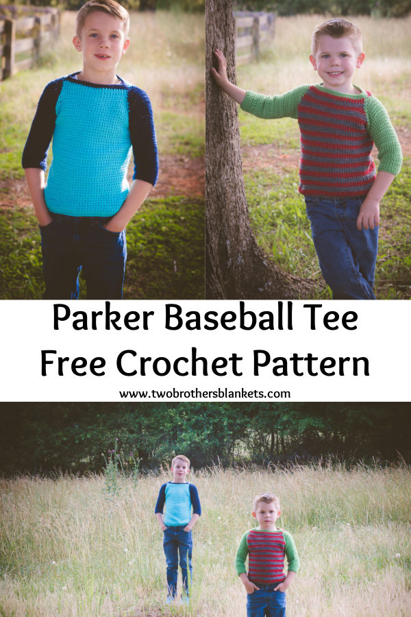 Crochet Sweater for Kids- Parker Baseball Tee
