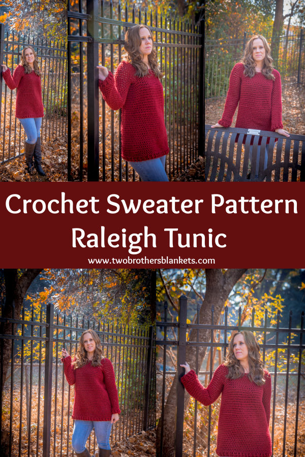 Crochet Sweater Pattern - Raleigh Tunic