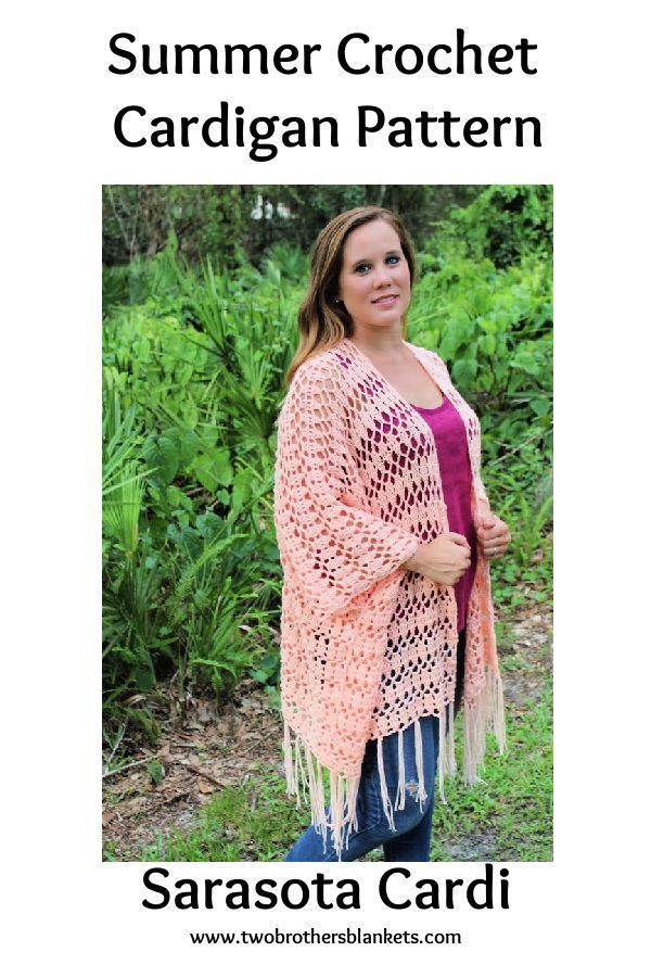 Sarasota Cardi Summer Crochet Cardigan Pattern