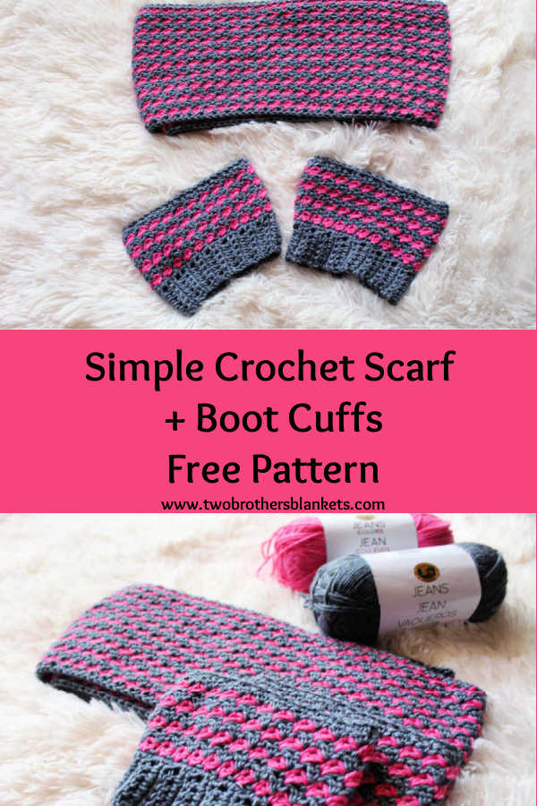 Simple Crochet Scarf + Boot Cuffs Free Pattern