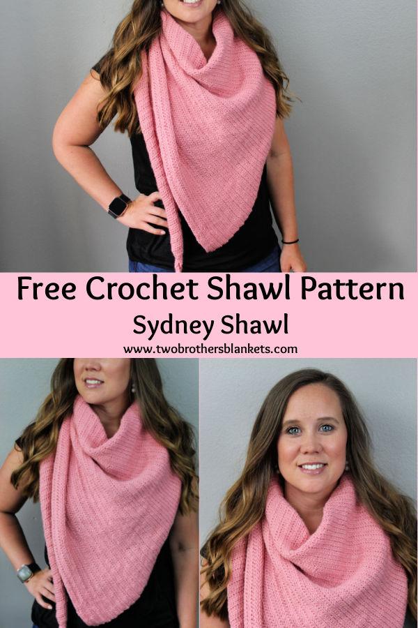 Free Crochet Shawl Pattern -Sydney Shawl