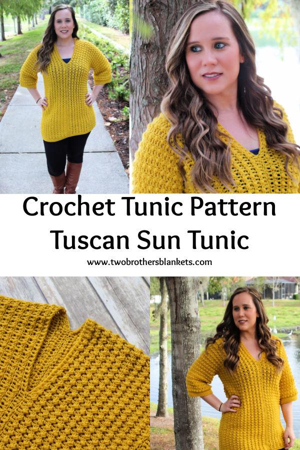 Crochet Tunic Pattern - Tuscan Sun Tunic