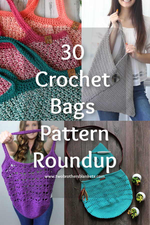 30 Crochet Bags Pattern Roundup