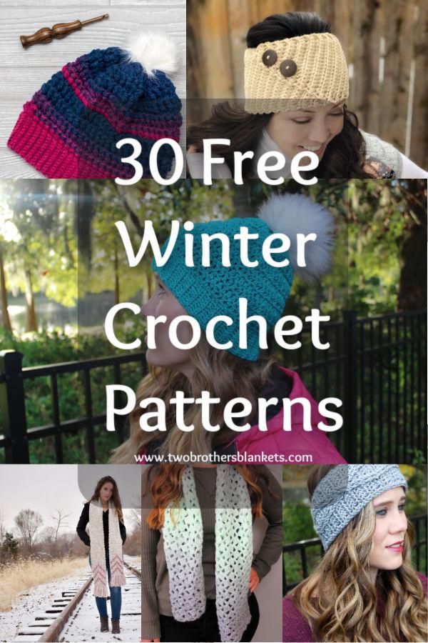 30 Free Winter Crochet Patterns