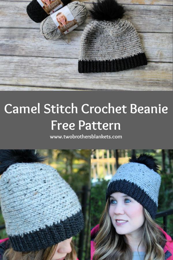 Camel Stitch Crochet Beanie Free Pattern