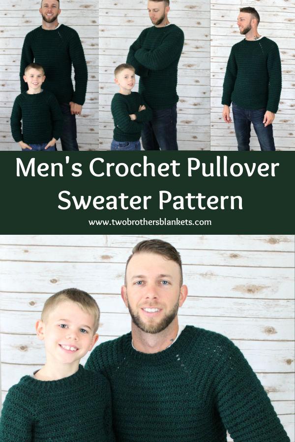 Men's Crochet Pullover Sweater Pattern