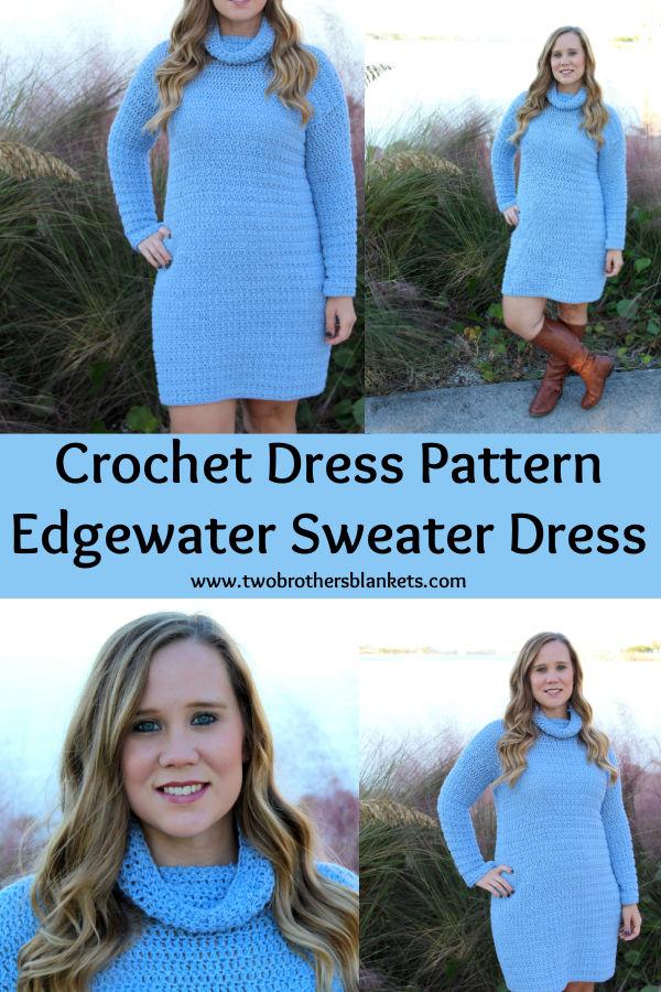 Crochet Dress Pattern - Edgewater Sweater Dress