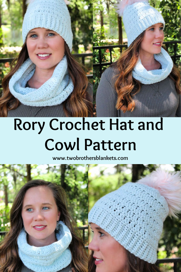 Rory Crochet Hat and Cowl Pattern - Two Brothers Blankets