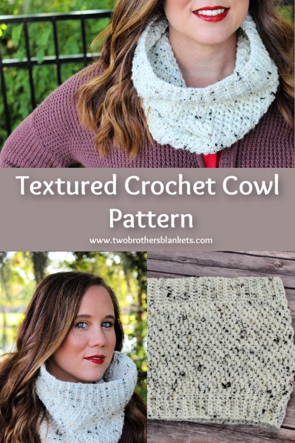 Textured Crochet Cowl Pattern- Savannah Cowl.