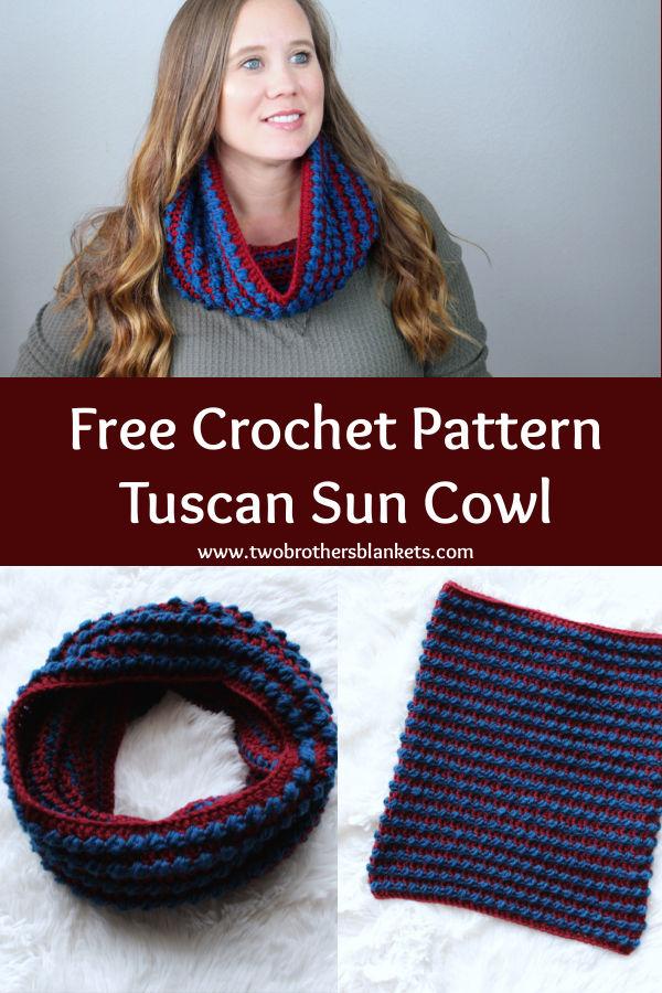 Free Crochet Pattern - Tuscan Sun Cowl