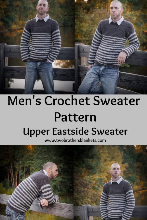Men's Crochet Sweater Pattern - Upper Eastside Sweater