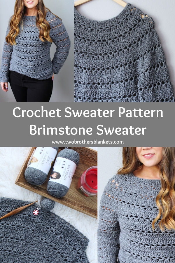 Crochet Sweater Pattern - Brimstone Sweater - Two Brothers Blankets