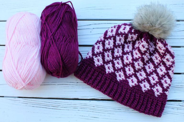 Fair Isle Crochet Hat Pattern- Illusion Hat