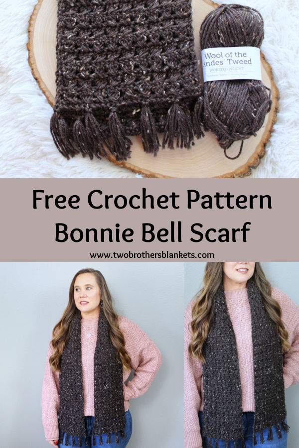 Free Crochet Pattern- Bonnie Bell Scarf - Two Brothers Blankets