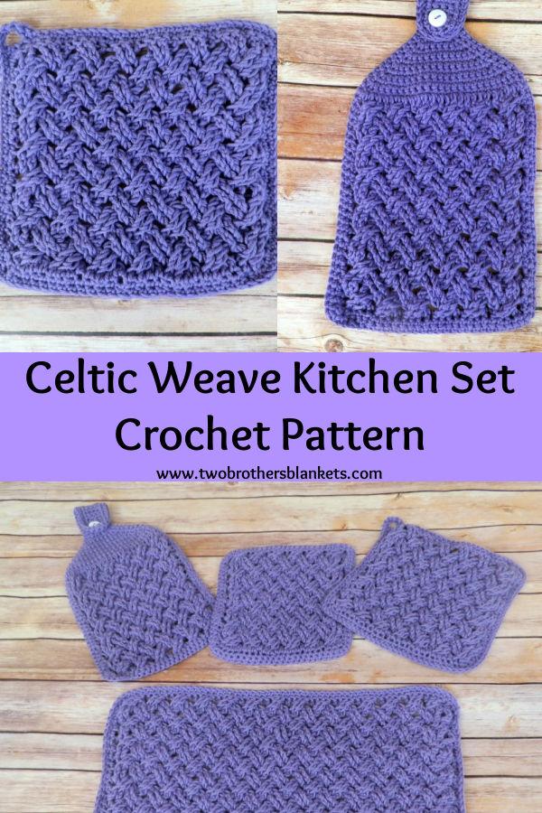 Celtic Weave Kitchen Set crochet pattern