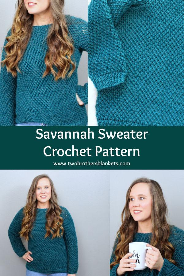 Savannah Sweater Crochet Pattern- Two Brothers Blankets