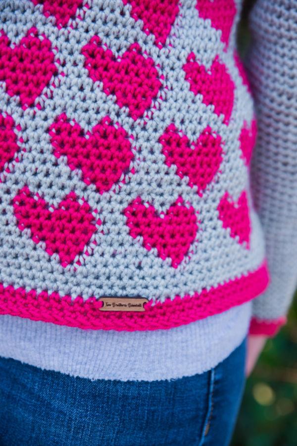 Crochet Heart Sweater Pattern – Paris Sweater