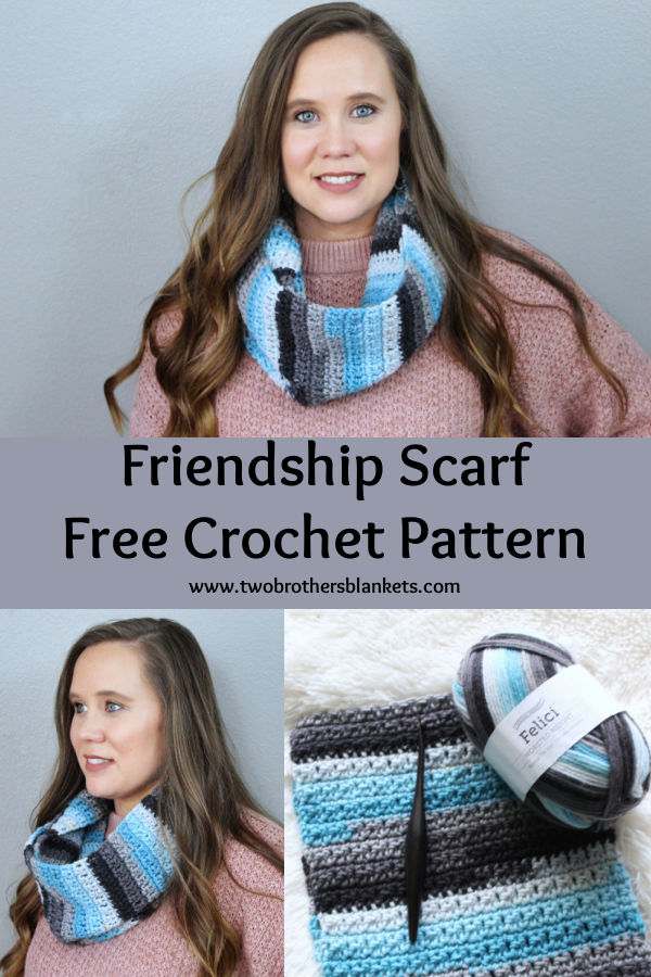 Friendship Scarf- Free Crochet Pattern- Two Brothers Blankets