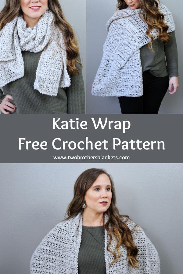 Katie Wrap- Free Crochet Pattern- Two Brothers Blankets