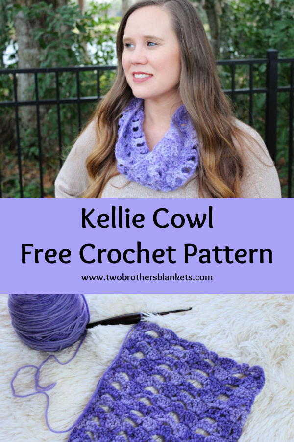 Kellie Cowl - Free Crochet Pattern- Two Brothers Blankets
