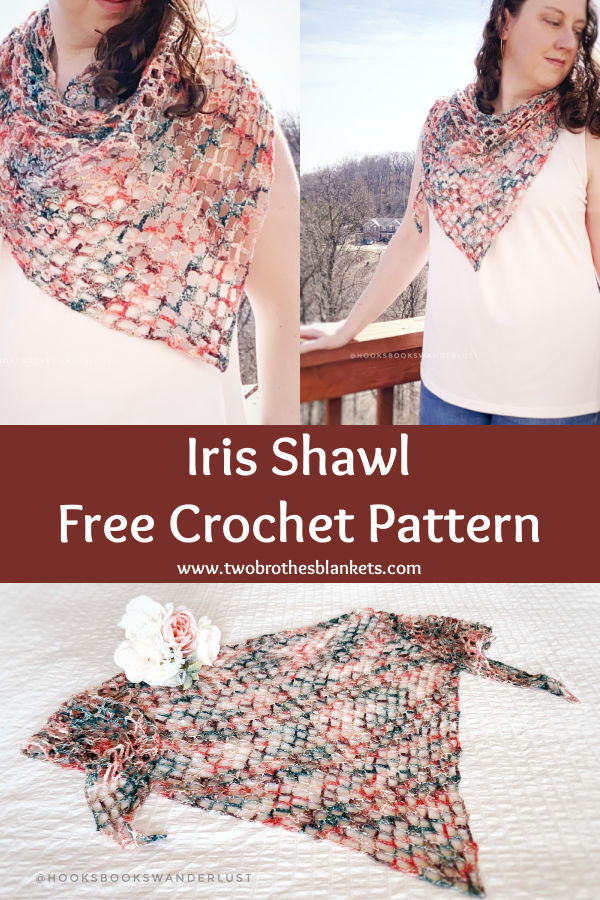 Iris Shawl Free Crochet Pattern - Two Brothers Blankets
