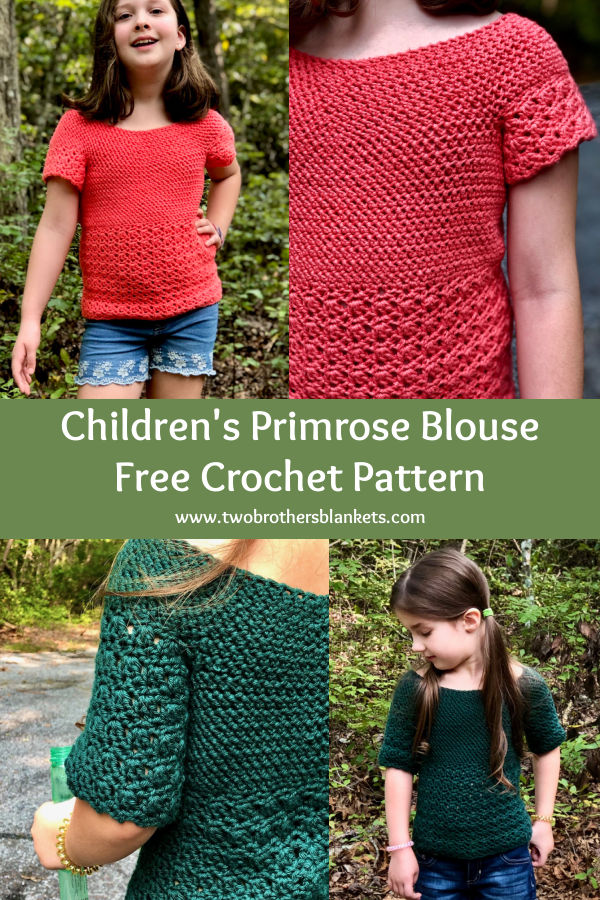 Children's Primrose Blouse Free Crochet Pattern - Two Brothers Blankets