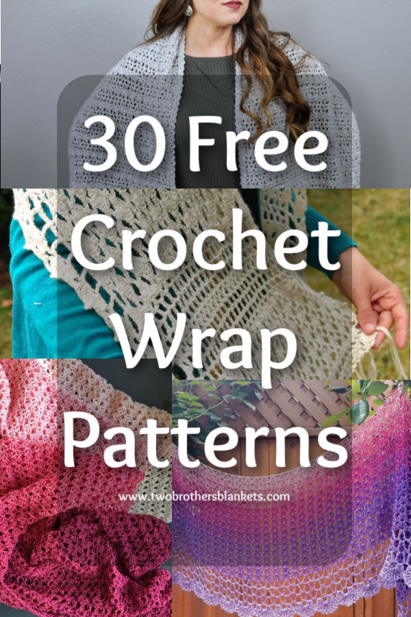 30 Free Crochet Wrap Patterns- Two Brothers Blankets