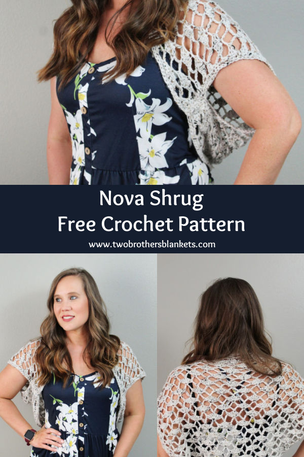 Nova Shrug Free Crochet Pattern- Two Brothers Blankets