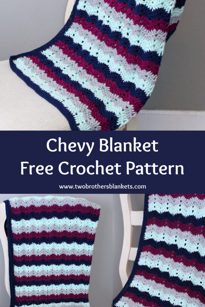 Chevy Blanket Free Crochet Pattern- Two Brothers Blankets