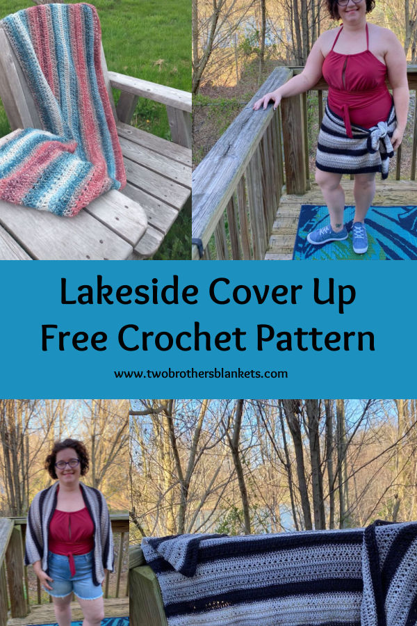Lakeside Cover Up Free Crochet Pattern- Two Brothers Blankets