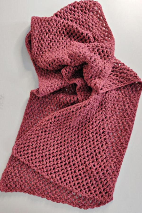 Vintage Rose Petal Crochet Scarf Free Pattern