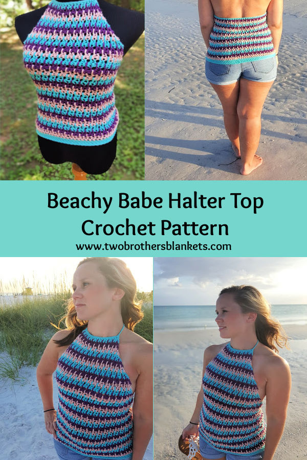Beachy Babe Halter Top Crochet Pattern - Two Brothers Blankets
