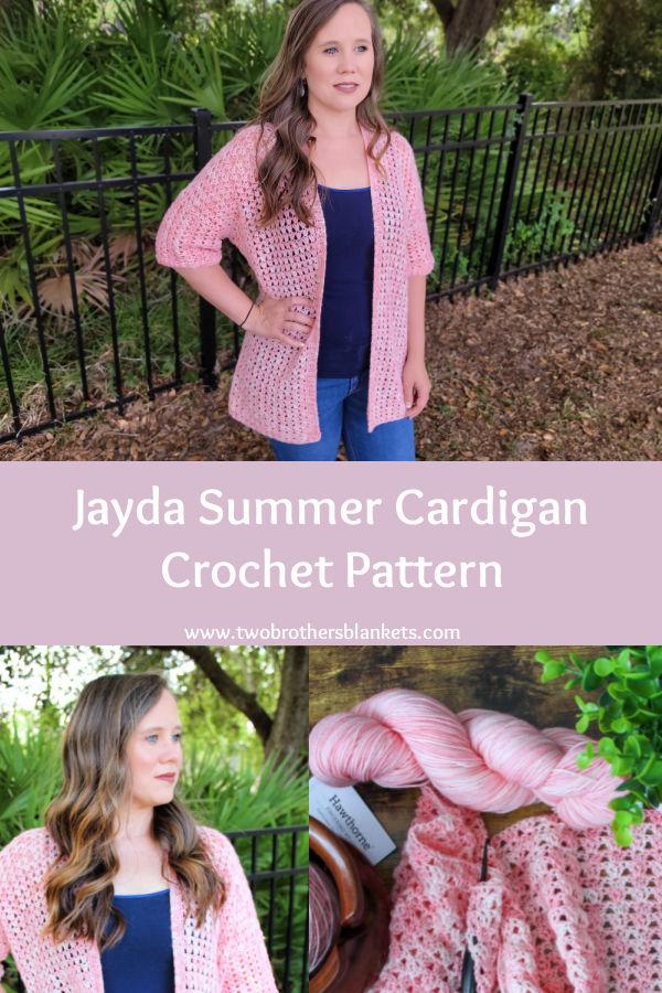 Jayda Summer Cardigan Crochet Pattern- Two Brothers Blankets