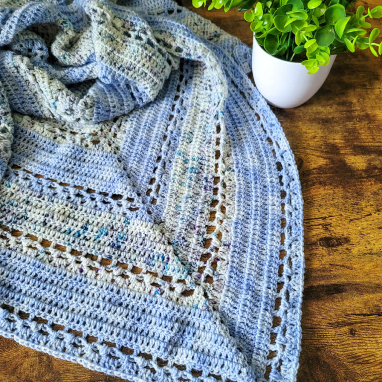 Free Crochet Triangle Shawl Pattern – Cherry Blossom Shawl