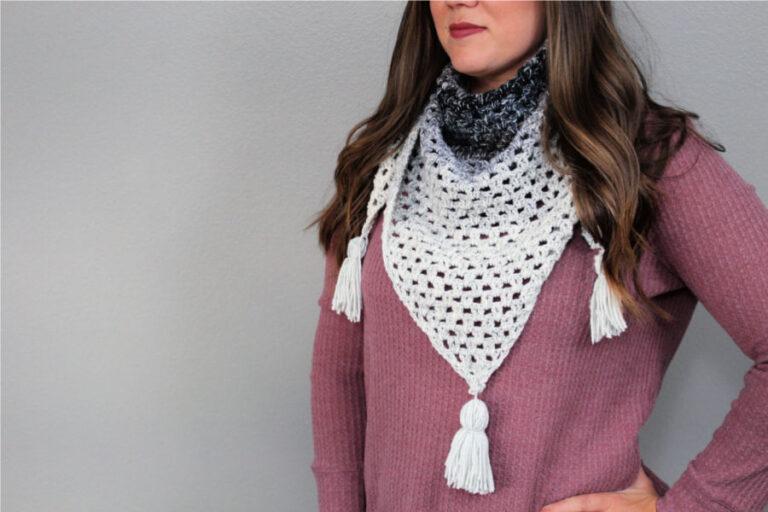 Crochet Triangle Scarf Free Pattern- Fiesta Fringe