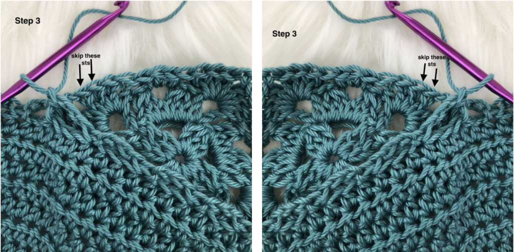 Join as you Go crochet tutorial.