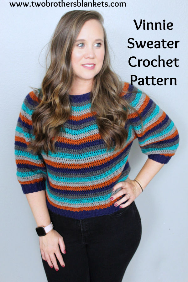 Vinnie Sweater Crochet Pattern- Two Brothers Blankets